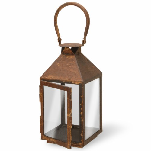 National Tree GAL30-6RU 6 in. Lantern - Rust Perspective: front