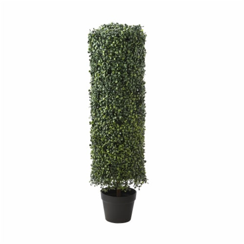 National Tree Company 36 Inch Boxwood Column Topiary Artificial Tree with Pot Perspective: front
