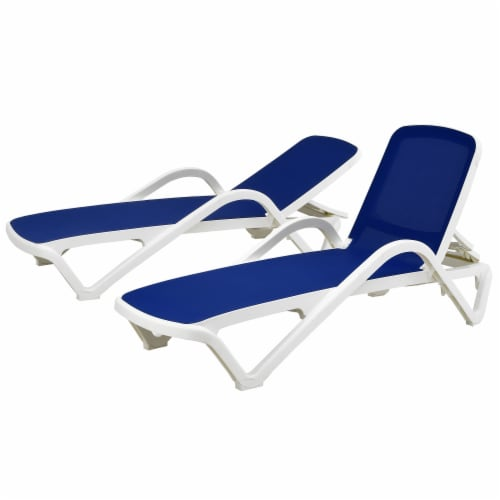 Plymouth Collection All Weather Sling Chaise Lounge Pair Perspective: front
