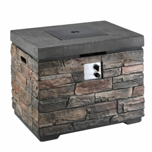 Natural Stone Design MGO Propane Fire Pit Table Perspective: front
