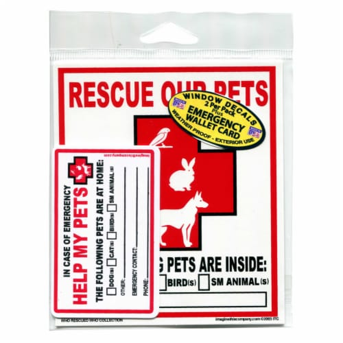 Imagine This Emergency Pet Rescue Decals Perspective: front