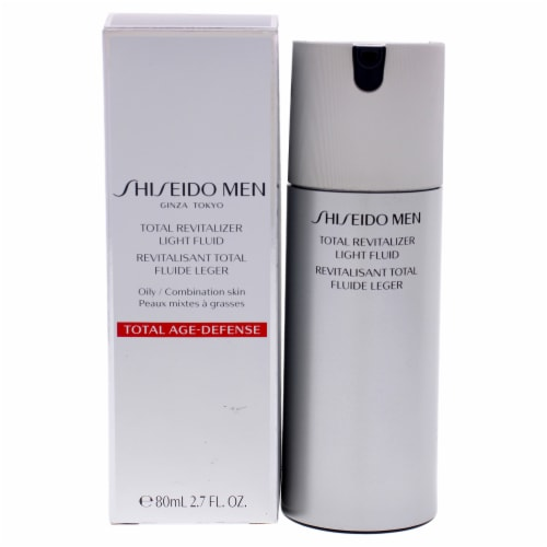 Total Revitalizer Light Fluid by Shiseido for Men - 2.7 oz Serum Perspective: front