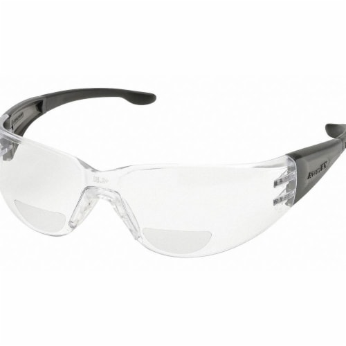 Elvex Bifocal Safety Read Glasses,+3.00,Clear  RX-401-3.0 Perspective: front