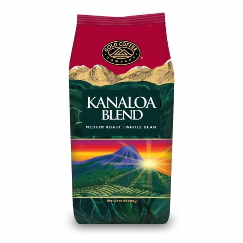 Gold Coffee Company Kanaloa Blend Medium Roast Whole Bean Coffee Perspective: front