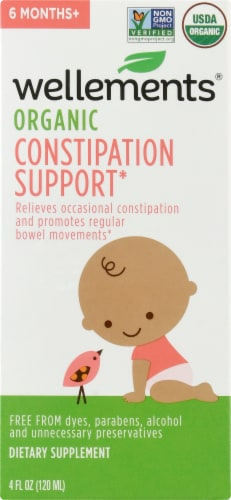 Wellements Organic Infant and Toddler Constipation Support Perspective: front