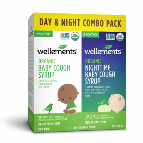 Wellements Organic Day/Night Baby Cough Syrup Combo Pack Perspective: front
