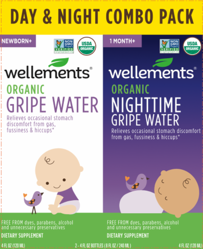 Wellements Organis Gripe Water Day/Night Combo Pack Perspective: front