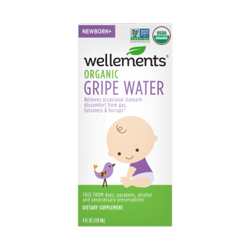 Wellements Organic Gripe Water Perspective: front