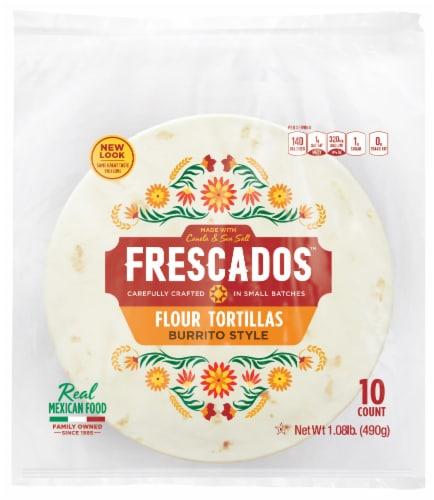 Frescados Burrito Style Flour Tortillas Perspective: front