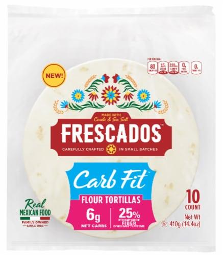 Frescados Carb Fit Flour Tortillas Perspective: front