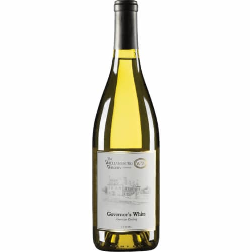 The Williamsburg Winery Governor's White American Riesling Perspective: front