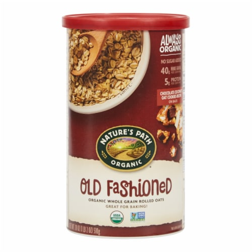 Nature's Path Organic Old Fashioned Rolled Oats Perspective: front