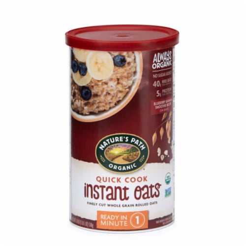 Nature's Path Organic Quick Cook Finely Cut Whole Grain Rolled Instant Oats Perspective: front