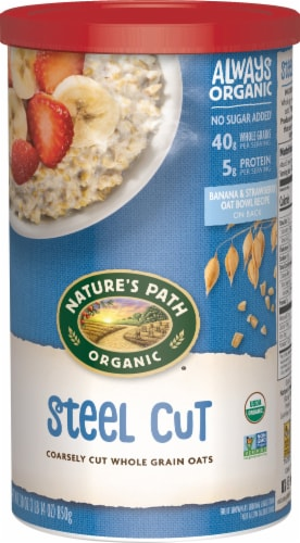Nature's Path Organic Steel Cut Whole Grain Oats Perspective: front