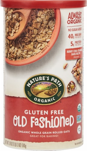 Nature's Path Organic Gluten Free Old Fashioned Whole Grain Rolled Oats Perspective: front