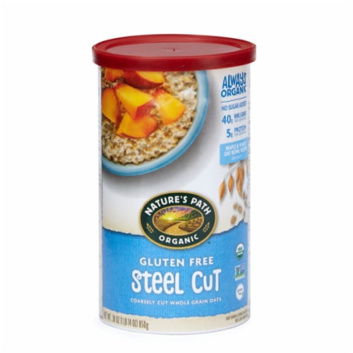 Nature's Path Organic Gluten Free Steel Cut Whole Grain Oats Perspective: front