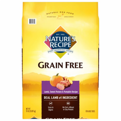 Nature's Recipe Grain Free Easy-to-Digest Lamb Sweet Potato & Pumpkin Dry Dog Food Perspective: front