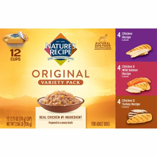 Nature's Recipe Original Variety Pack Dog Food Perspective: front
