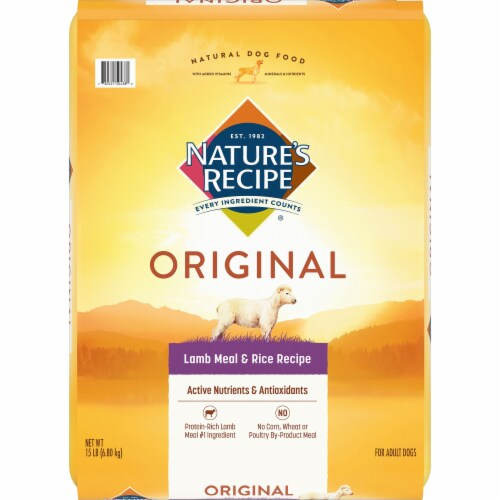 Nature's Recipe Lamb Meal & Rice Protein Dry Adult Dog Food Perspective: front