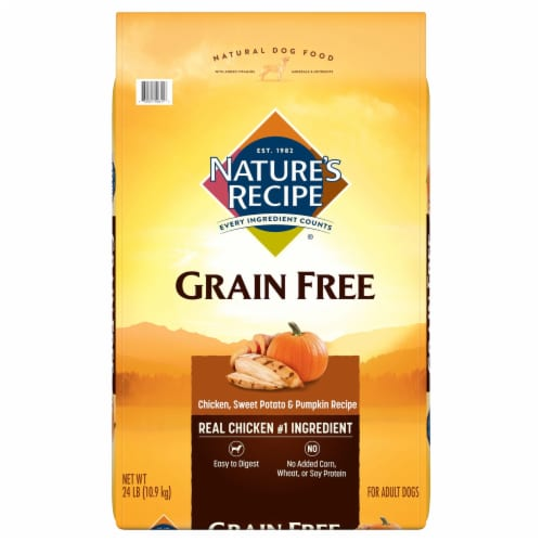 Nature's Recipe Grain Free Chicken Sweet Potato & Pumpkin Dry Dog Food Perspective: front