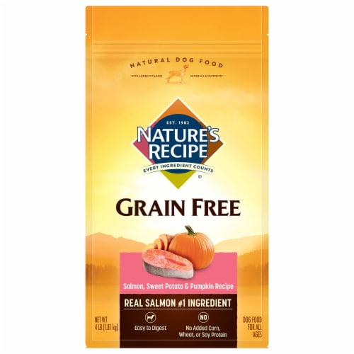 Nature's Recipe Grain Free Salmon Sweet Potato & Pumpkin Dry Dog Food Perspective: front