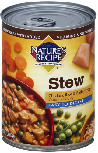 Nature's Recipe Chicken Rice & Barley Stew Wet Dog Food Perspective: front