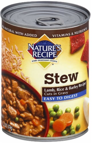 Nature's Recipe Lamb Rice & Barley Stew Wet Dog Food Perspective: front
