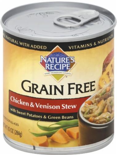 Nature's Recipe Grain Free Chicken & Venison Stew Wet Dog Food Perspective: front