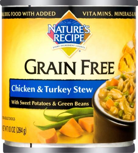 Nature's Recipe Grain Free Chicken & Turkey Stew Wet Dog Food Perspective: front