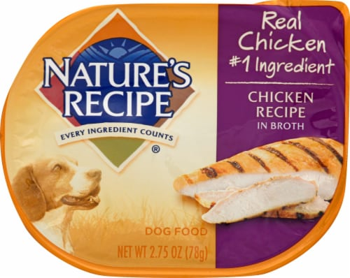 Nature's Recipe Chicken in Broth Wet Dog Food Perspective: front