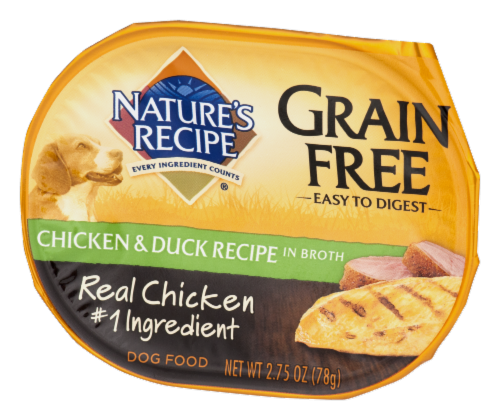 Nature's Recipe Grain Free Chicken & Duck in Broth Wet Dog Food Perspective: front
