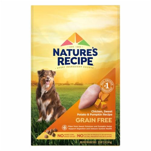 Nature's Recipe Grain Free Chicken Sweet Potato & Pumpkin Dry Dog Food Perspective: front