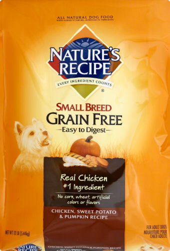 Nature's Recipe Grain Free Chicken Sweet Potato & Pumpkin Small Breed Dry Dog Food Perspective: front