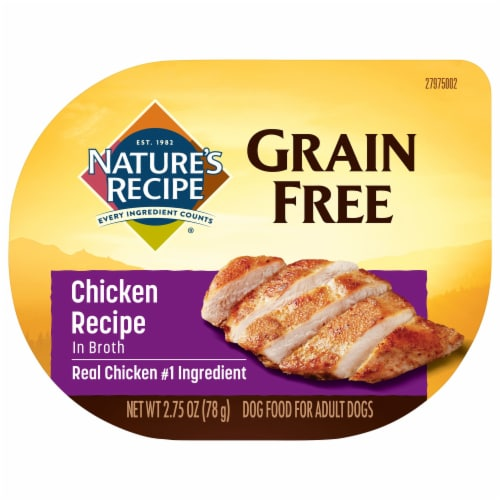 Nature's Recipe Grain Free Chicken in Broth Wet Dog Food Perspective: front