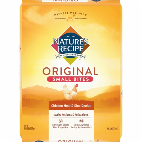Nature's Recipe Small Bites Chicken Meal & Rice Dry Dog Food Perspective: front