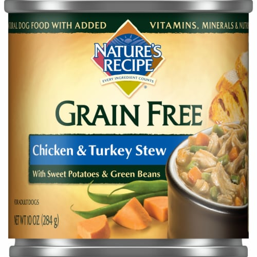 Nature's Recipe Grain Free Chicken & Turkey Stew Wet Dog Food Perspective: front