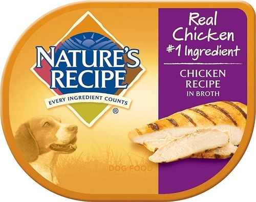 Nature's Recipe Chicken Recipe in Broth Wet Dog Food Perspective: front