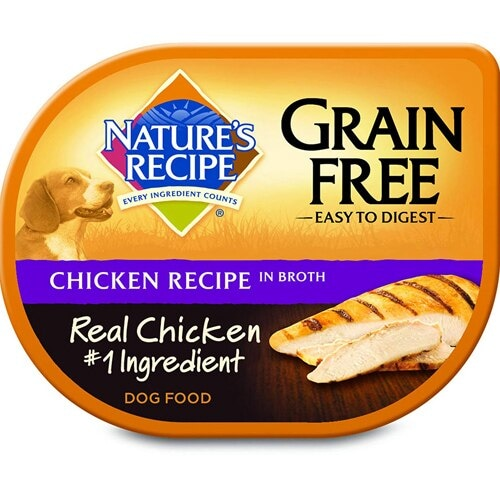 Nature's Recipe Grain Free Chicken Recipe in Broth Wet Dog Food Perspective: front