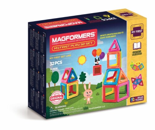MAGFORMERS® My First Play Building Set 32 Piece Perspective: front