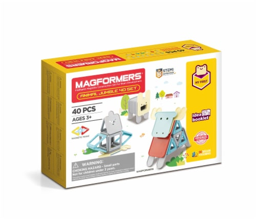 MAGFORMERS® Animal Jumble Building Set 40 Piece Perspective: front