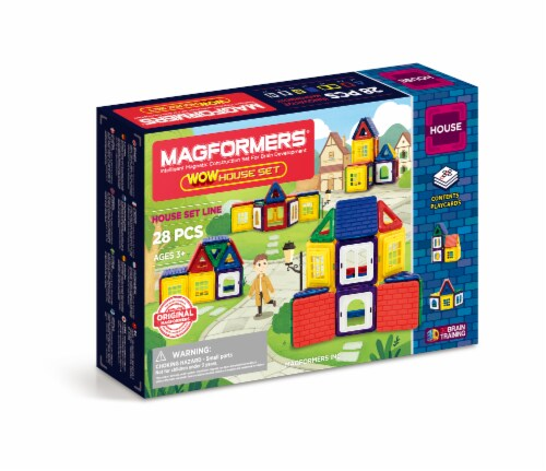 MAGFORMERS® WOW House Building Set 28 Piece Perspective: front