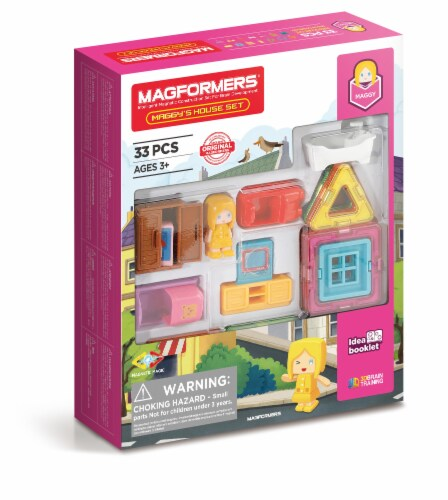 MAGFORMERS® Maggy's House Building Set 33 Piece Perspective: front