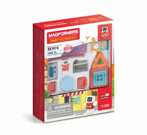 MAGFORMERS® Minibot Kitchen Building Set 33 Piece Perspective: front