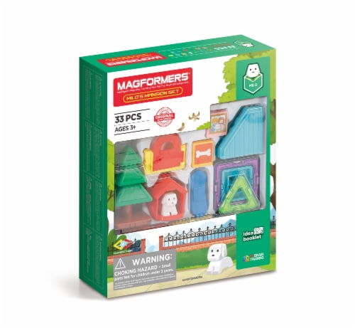 MAGFORMERS® Milo's Mansion Set 33 Piece Perspective: front