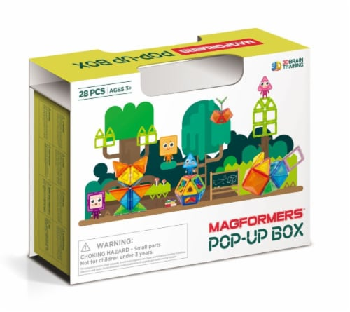 MAGFORMERS® Pop up Box Building Set 28 Piece Perspective: front