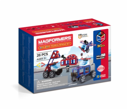 MAGFORMERS® Amazing Police & Rescue Set 26 Piece Perspective: front