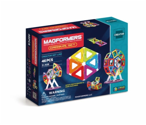 MAGFORMERS® Carnival Building Set 46 Piece Perspective: front