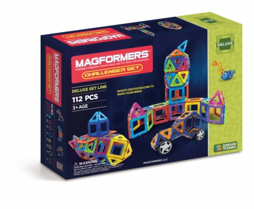 MAGFORMERS® Challenger Building Set 112 Piece Perspective: front
