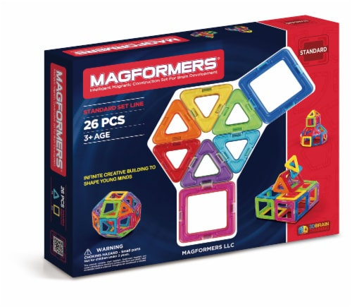 MAGFORMERS® Building Set 26 Piece - Rainbow Perspective: front