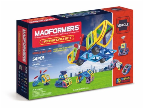 MAGFORMERS® Transform Building Set 54 Piece Perspective: front